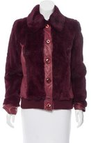 Dolce & Gabbana Leather Fur-Trimmed Jacket w/ Tags
