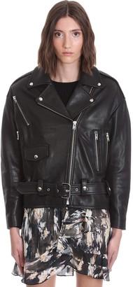 IRO Arbok Leather Jacket In Black Leather
