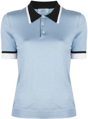 Prada Sheer Polo Shirt