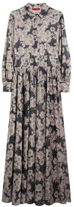 Max & Co. Floral Maxi Shirt Dress