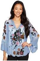 Hale Bob Brilliant Blossoms Velvet Burnout Top Women's Clothing