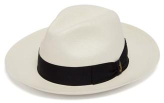 Borsalino Panama Wide-brim Straw Hat - Mens - White