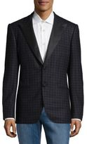 Kiton Regular Fit Houndstooth Wool Sportcoat