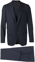 Caruso two-piece suit & gilet - men - Cupro/Wool - 46