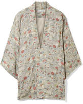 Elizabeth and James Drew Floral-print Chiffon Jacket - Green