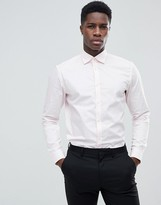 Esprit Slim Fit Smart Shirt In Pink With Easy Iron