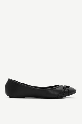 Ardene Faux Leather Flats with Knotted Detail - Shoes |