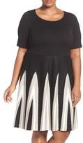 Gabby Skye Plus Size Women's Fit & Flare Sweater Dress
