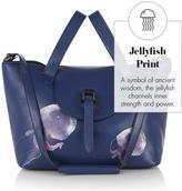 Meli-Melo Thela Medium Tote Bag Midnight Blue Jellyfish