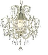 Bed Bath & Beyond Wrought Iron & Crystal 1-Light Chandelier in White