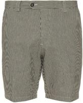 Ami Striped Cotton Shorts