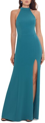 Xscape Evenings Halter Neck Open Back Gown