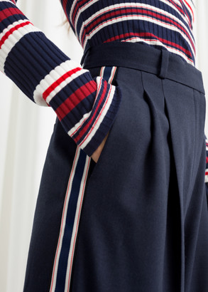 And other stories Wide Racer Stripe Pants