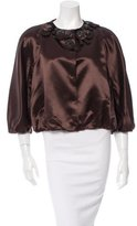 Moschino Embellished Satin Jacket w/ Tags