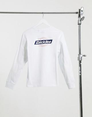 Dickies Ruston back print long-sleeved T-shirt in white