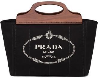 Prada Logo-Print Canvas Bag
