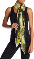 David & Young Floral Lemon Print Scarf
