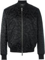 DSQUARED2 smudge pattern bomber jacket