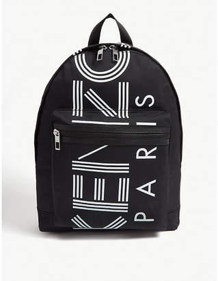 Kenzo Striped logo zipped backpack