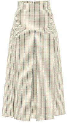 Emilia Wickstead Giuliana houndstooth wool maxi skirt