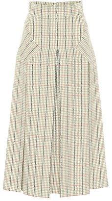 Emilia Wickstead Giuliana houndstooth wool midi skirt
