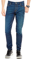 GUESS Slim Tapered Whiskered Denim Jeans