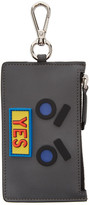 Fendi Grey 'Yes' Coin Pouch