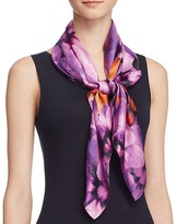 Echo Silk Icy Bloom Square Scarf