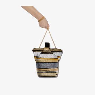 BIENEN-DAVIS gold, bronze and silver Kit lurex bucket bag