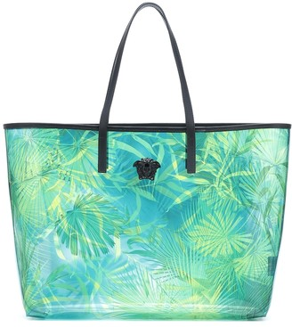 Versace Virtus jungle-print PVC tote