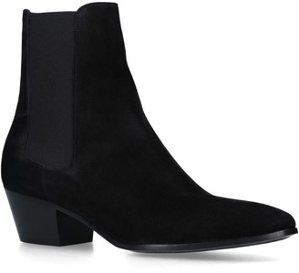 Saint Laurent Leather West Chelsea Boots 45