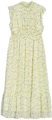 MelloDay Smocked Tiered Hem Maxi Dress (Plus Size)