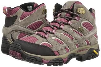 Merrell Moab 2 Mid Waterproof (Boulder/Blush) Women's Shoes