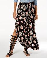 Ultra Flirt Juniors' Printed Wrap Maxi Skirt