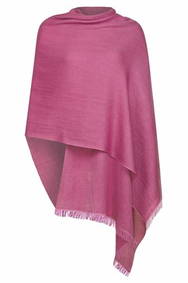 Uk Pashmina Raspberry Wool and Silk Pashmina