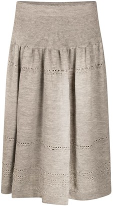 Studio Myr Calf-Length Bohemian Chic Knitted Skirt Sweety-Mouse.