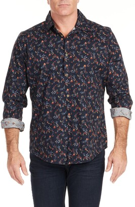 Johnny Bigg Quinn Regular Fit Floral Stretch Button-Up Shirt