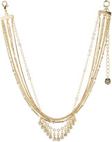 Lydell NYC Multi-Chain Choker Necklace w/ Crystal Drops