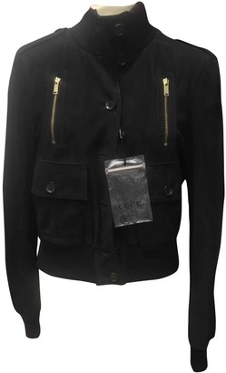 Gucci Black Suede Leather jackets