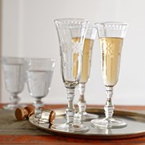Williams-Sonoma Vintage Etched Champagne Flutes, Set of 4
