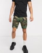 Asos Design DESIGN cargo shorts in camo print