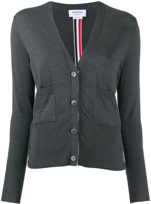Thom Browne RWB-stripe V-neck cardigan