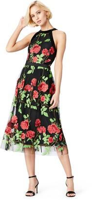 Amazon Brand - TRUTH & FABLE Women's Midi Floral Dress