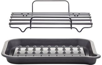 MasterPro AirFlow Non-Stick Steel Roaster with Pouring Spout 43 x 35 x 8cm Black