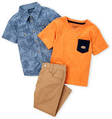 Lucky Brand Toddler Boys) 3-Piece Leaf Shirt & Pants Set