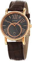 Chronoswiss Soul Brown Leather Strap Charcoal Dial Rose Gold Automatic Swiss Watch CH-2821LLRSOGR