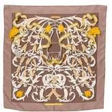 Hermes Le Mors A La Conétable Silk Pocket Square