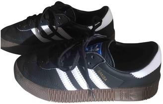 adidas Samba Black Leather Trainers