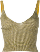 Kenzo knitted tank - women - Polyester/Viscose/Metallized Polyester - M