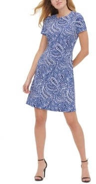 Tommy Hilfiger Atlas Shadow Paisley-Print Shift Dress